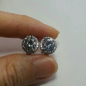 Jewelry - Simulated Diamond Halo Earrings